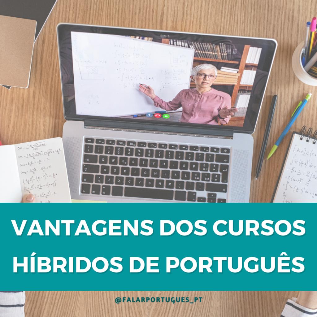 vantagens dos cursos híbridos de português